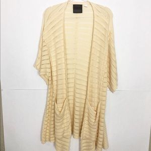 EUC Guinevere open front draped knit cardigan